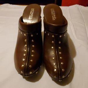 "MICHAEL Michael Kors Leather Heels ""6"""